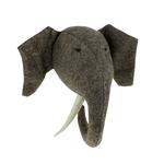 Fiona Walker Fiona Walker Grey Elephant Head with Tusks Original Large Size