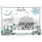 Homebird Bespoke Personalised Homebird Illustration Of the Beautiful Hospitium York - Wedding Venue