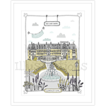 Homebird Bespoke Personalised Homebird Illustration Of the Beautiful Gleneagles Hotel - Wedding Venue
