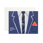 Rifle Rifle Father's Day Blue Suit Dad Card