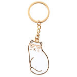 RJB Stone Cutie Cat Enamel Keyring