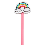 Sass and Belle Patches & Pins Pencil With Rainbow Eraser Topper