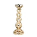 Light & Living SVELVIK Champagne Gold Glass Candle Holder