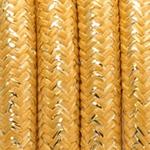 CCIT Per Metre - Round textile cable weaved Gold foil Flex: 3 core 0.75cm Diameter