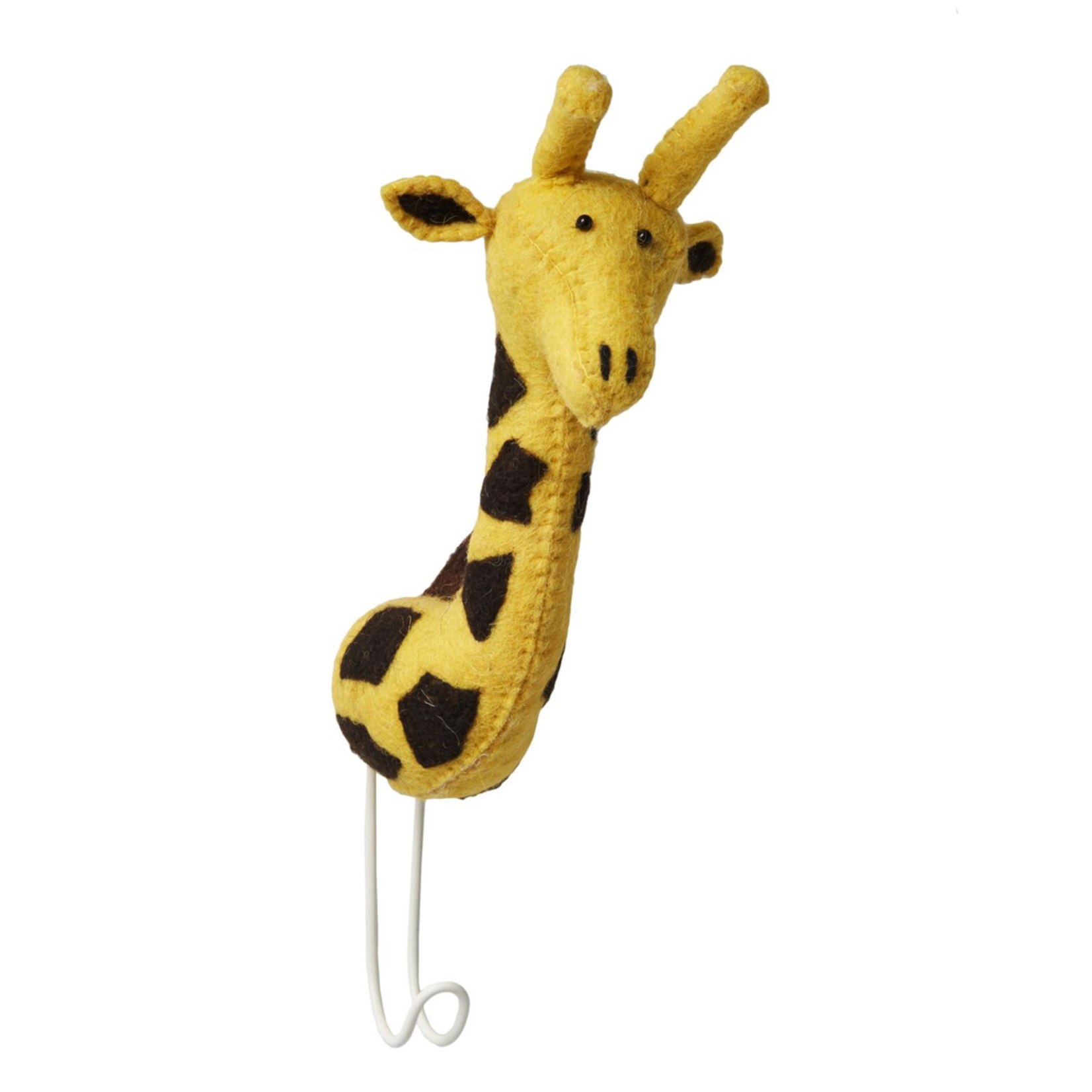 Fiona Walker Fiona Walker Felt Single Head Yellow Hook Giraffe
