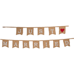 RJB Stone Just Married Jute Bunting