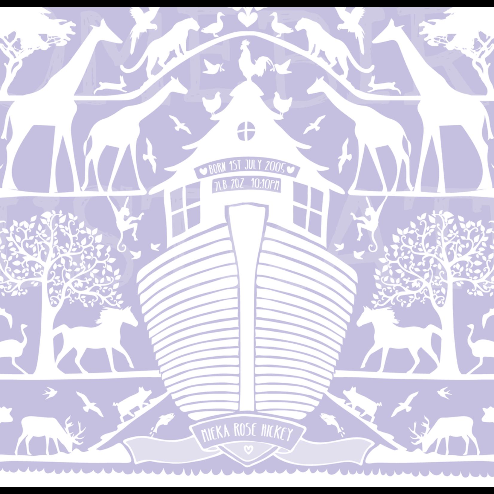 Homebird Bespoke Homebird Bespoke Noah's Ark Personalised A3 Illustration