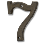 HILL INTERIORS Rustic Brown Cast Iron House Number '7'