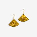 Materia Rica Materia Rica Abanico Yellow Earrings