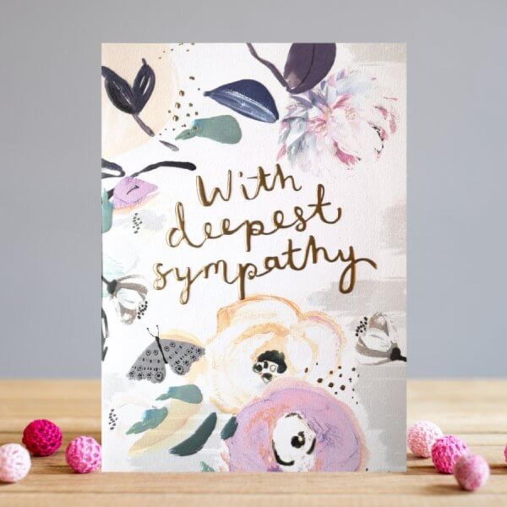 Louise Tiler Floral Sympathy Card