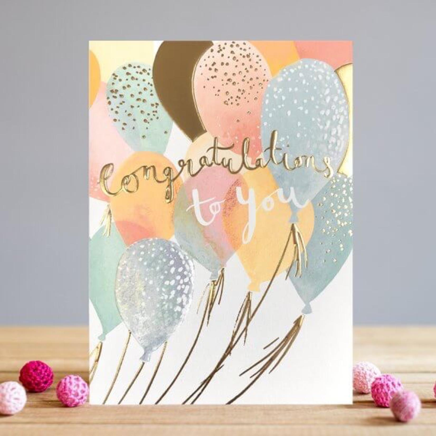 Louise Tiler Congratulations Balloons Card