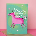 Katie Abey Believe in Yourself Unicorn card