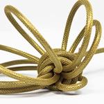 Nud Per Metre NUD Textile Cable/Flex 2 core Gold Crown