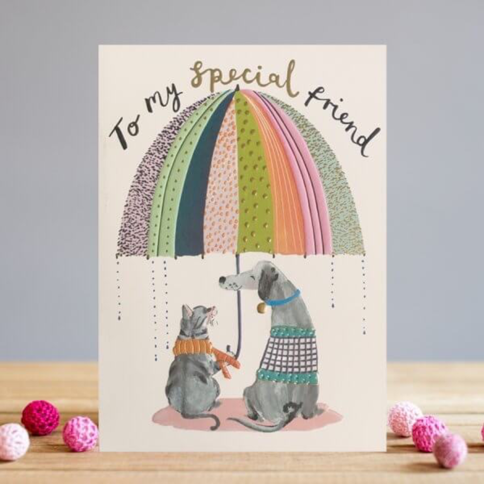 Louise Tiler Cat & Dog Friends Card