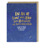 Emily McDowell Emily McDowell Met Each Other Miracle Foil Card
