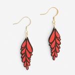 Materia Rica Materia Rica Racimo Red Earrings