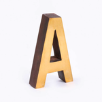 BoDuck Chadwick Wood Brass Letter A Gold