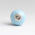 Bomb Duck Bonbon Ceramic Round Door Knob Sky Blue