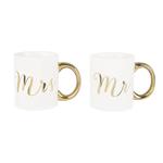 Sass and Belle Mr & Mrs Gold Mug