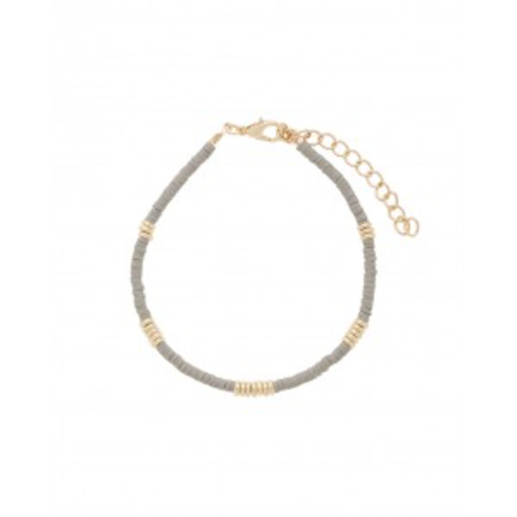 Mark Watson Gold Light Grey Apollo Bracelet