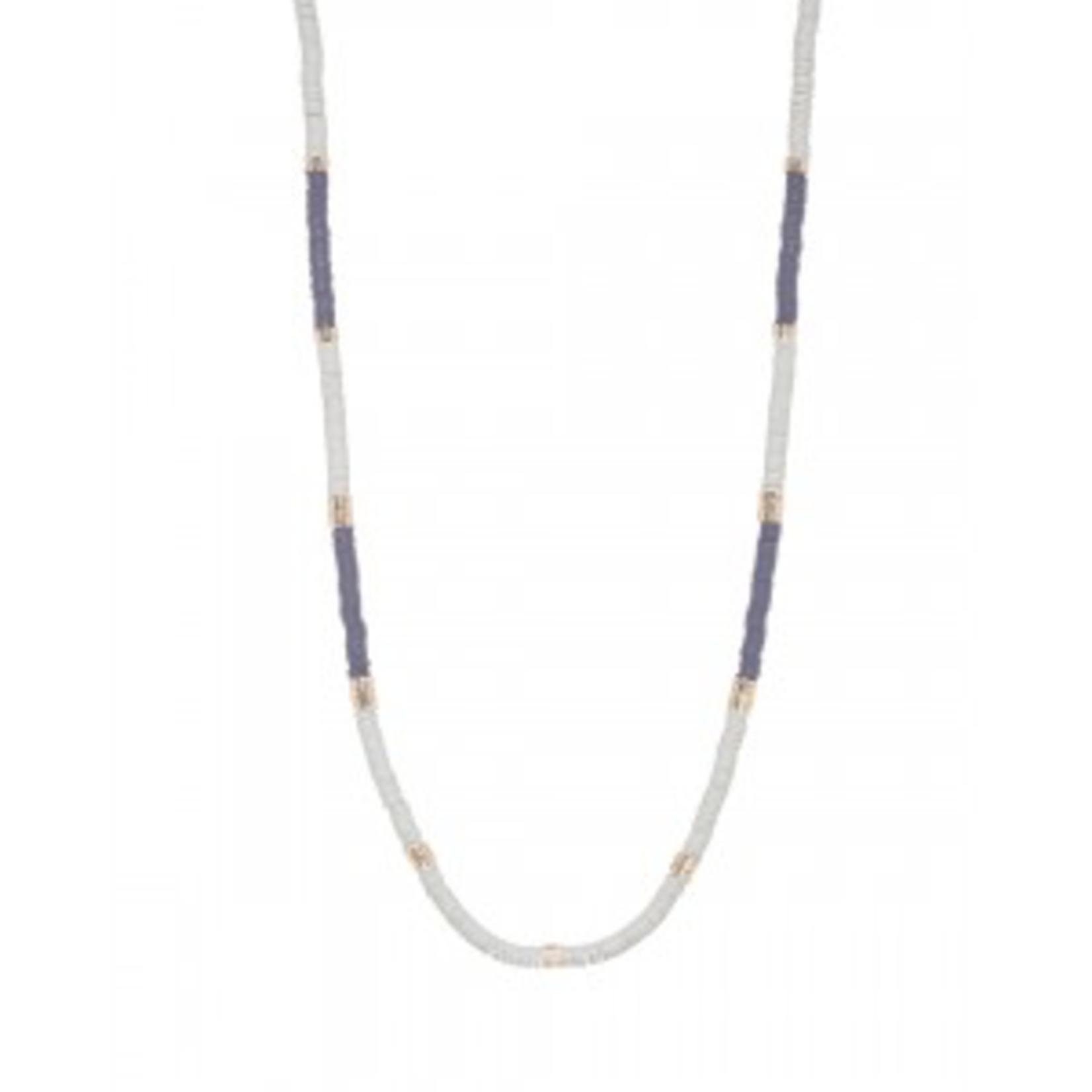 Mark Watson Gold Navy Hartshorn Necklace