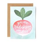 1CANOE2 Radishing Dear Card