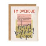 1CANOE2 Overdue Birthday Card