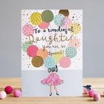 Louise Tiler DAUGHTER BALLOONS CARD