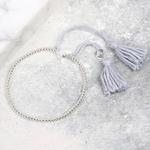Lisa Angel Dainty Links Star Bracelet in Grey & Silver