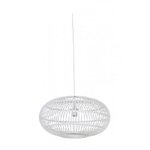 Light & Living Mandy white painted wicker hanging lampshade 48x 27cm