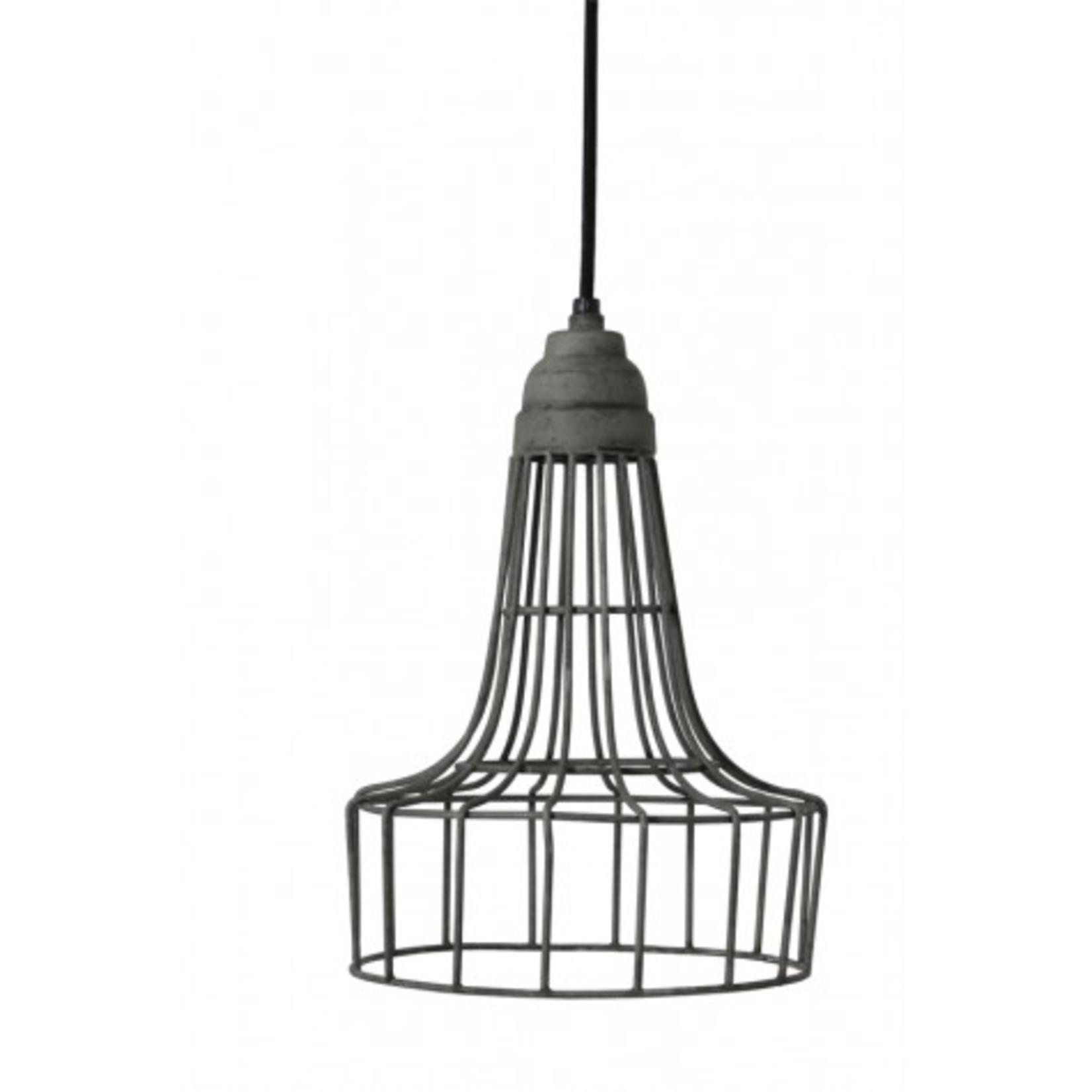Light & Living Babette 20x30cm hanging wire cement lamp