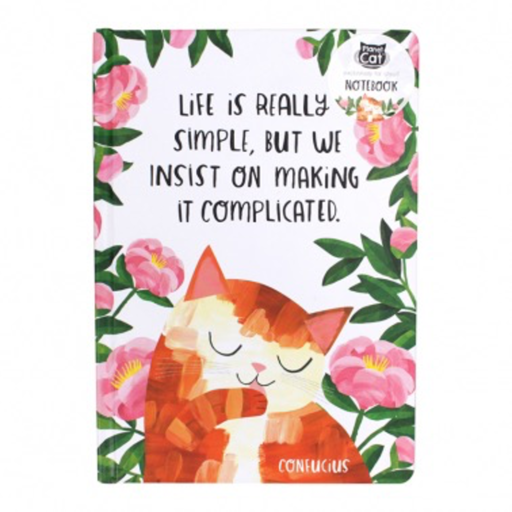 Half Moon Bay A5 Notebook - Planet Cat (Life Is Simple)