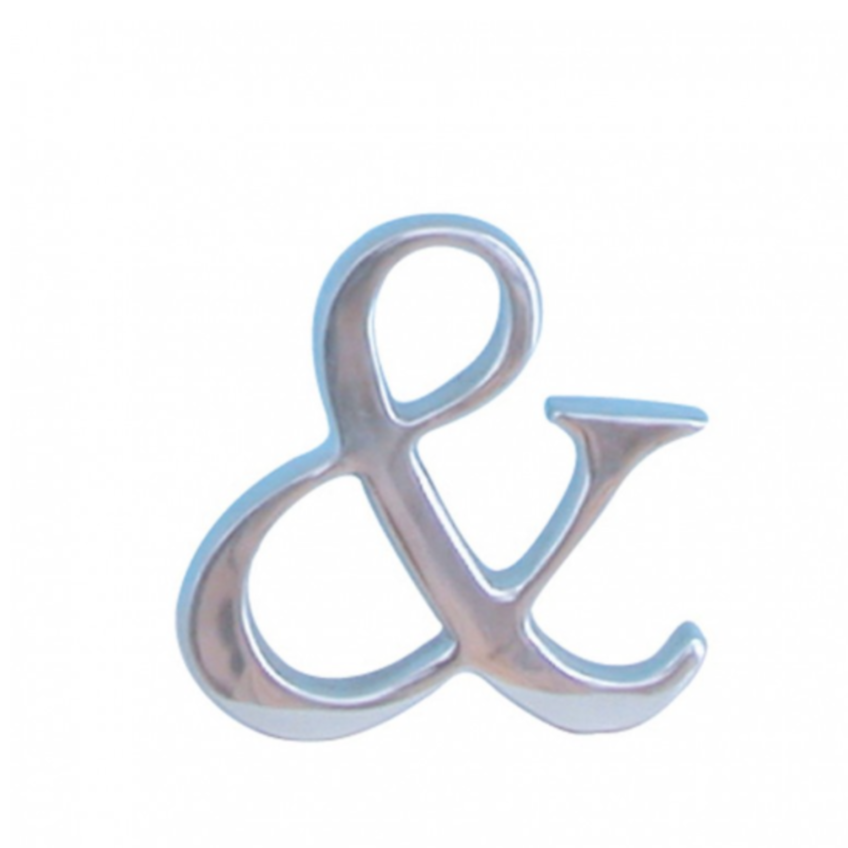 BoDuck Chrome coloured Cast Aluminium & Ampersand Sign perfect for Mr & Mrs, Mr & Mr, Mrs & Mrs to sit on the mantle.