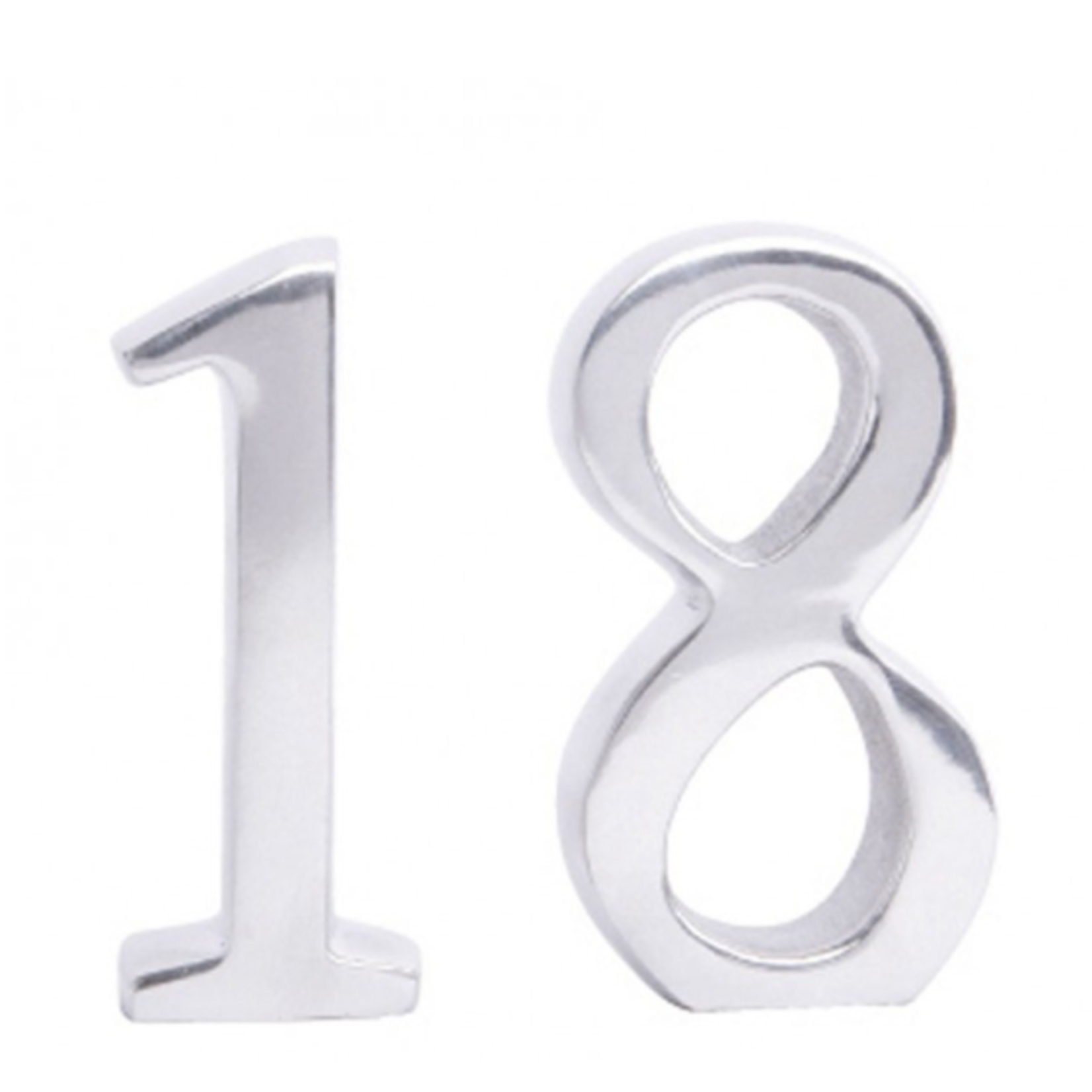 BoDuck Cast Aluminium Number 18 Birthday
