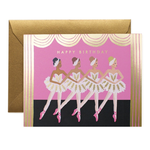 Rifle Rifle Birthday Ballet Card with gold foil