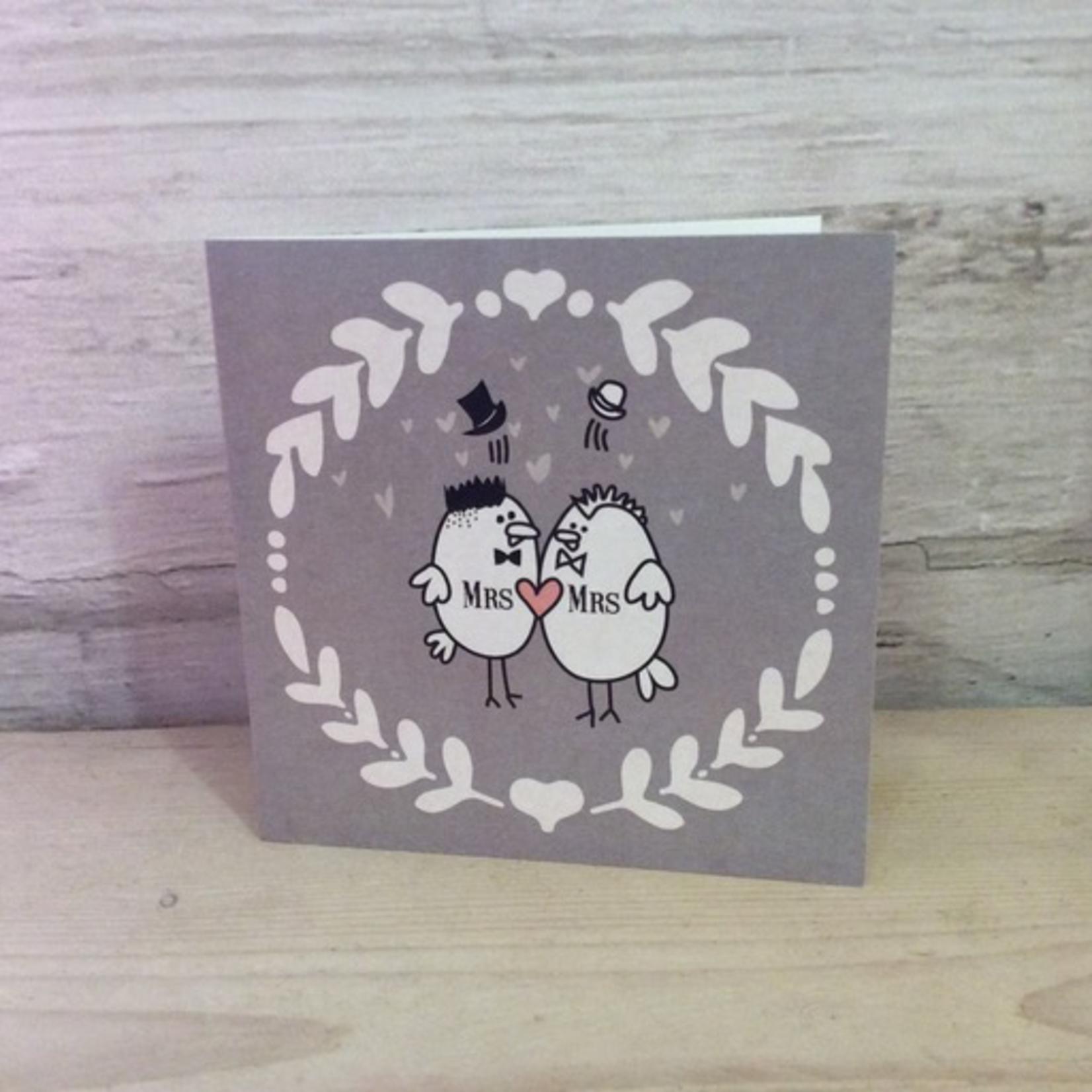 Homebird Homebird Designed Birdy Vintage Mrs & Mrs Card
