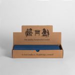 """St. Eval 1 x St Eval Long 7/8x10"""" Bedruthan blue Single Candlestick Unscented"""