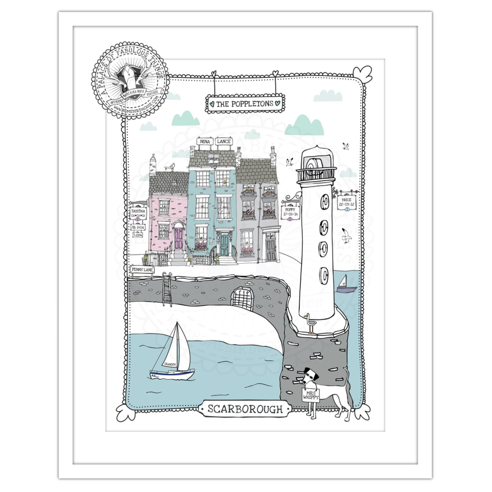 Homebird Bespoke Homebird Bespoke Lighthouse A3 Illustration Framed