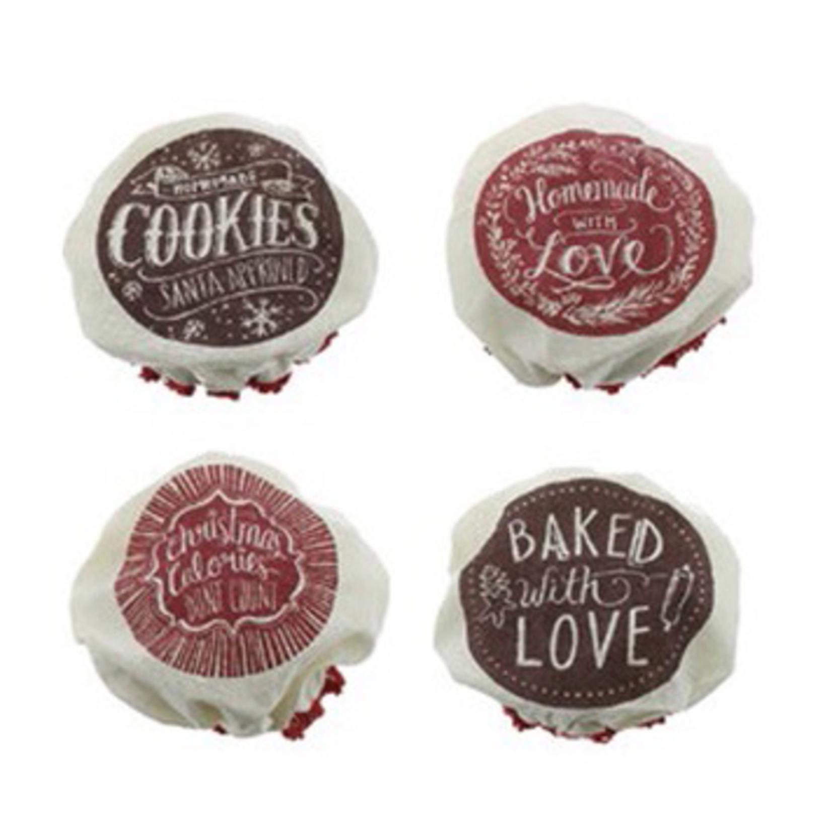 Fiona Walker Fiona Walker 4 pack Mixed Jar lids red/brown