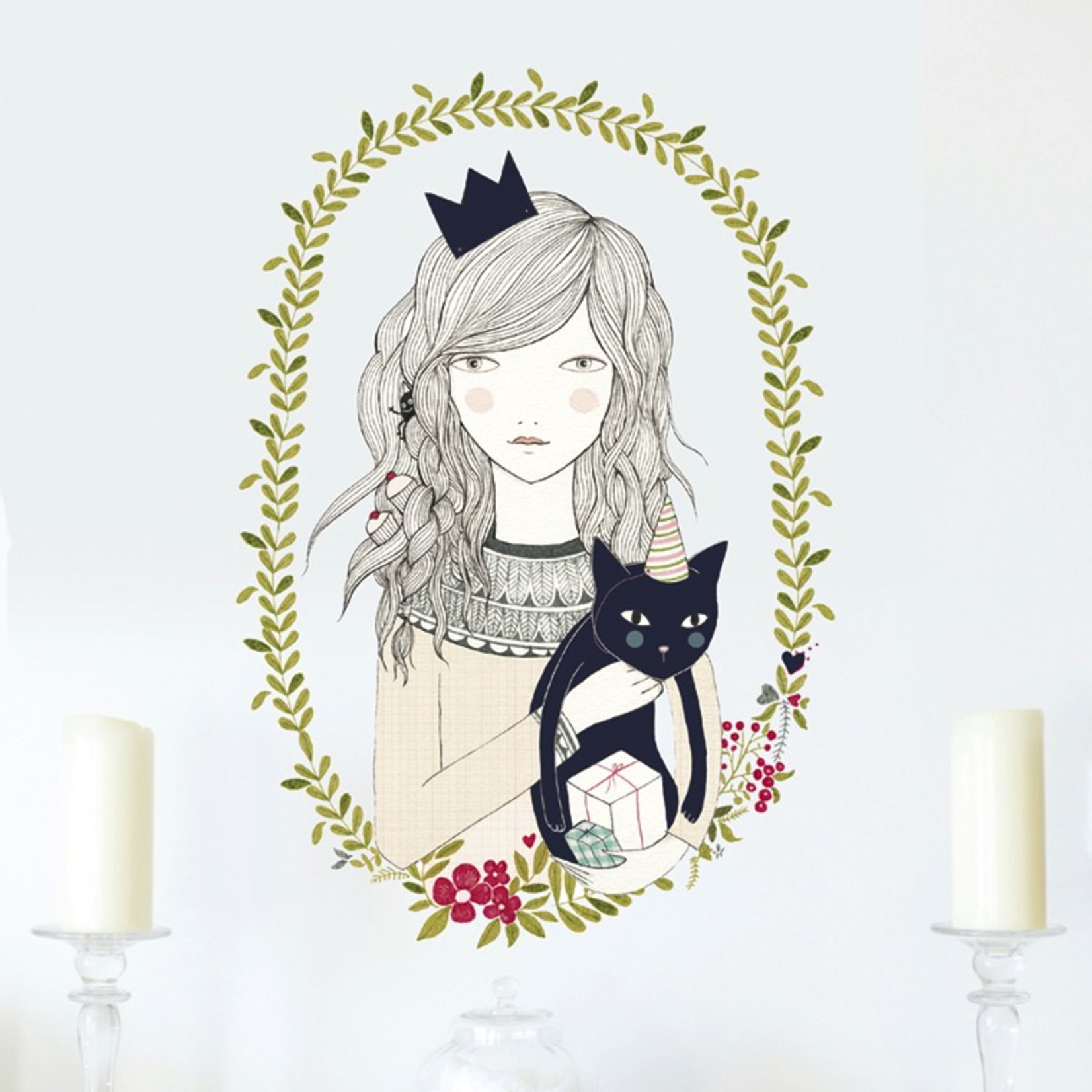 Chispum CAT GIRL wall sticker 58X80CM
