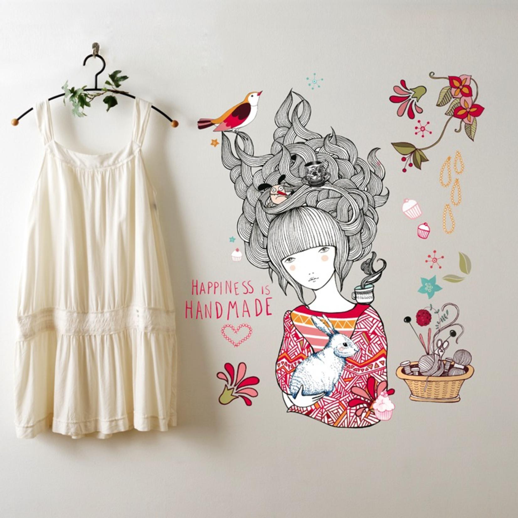 Chispum Happiness is Handmade Wall Sticker 41x57.5 cm