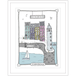 Homebird Pictures Oh i do like to be beside the seaside READY Lighthouse Scene Framed A3
