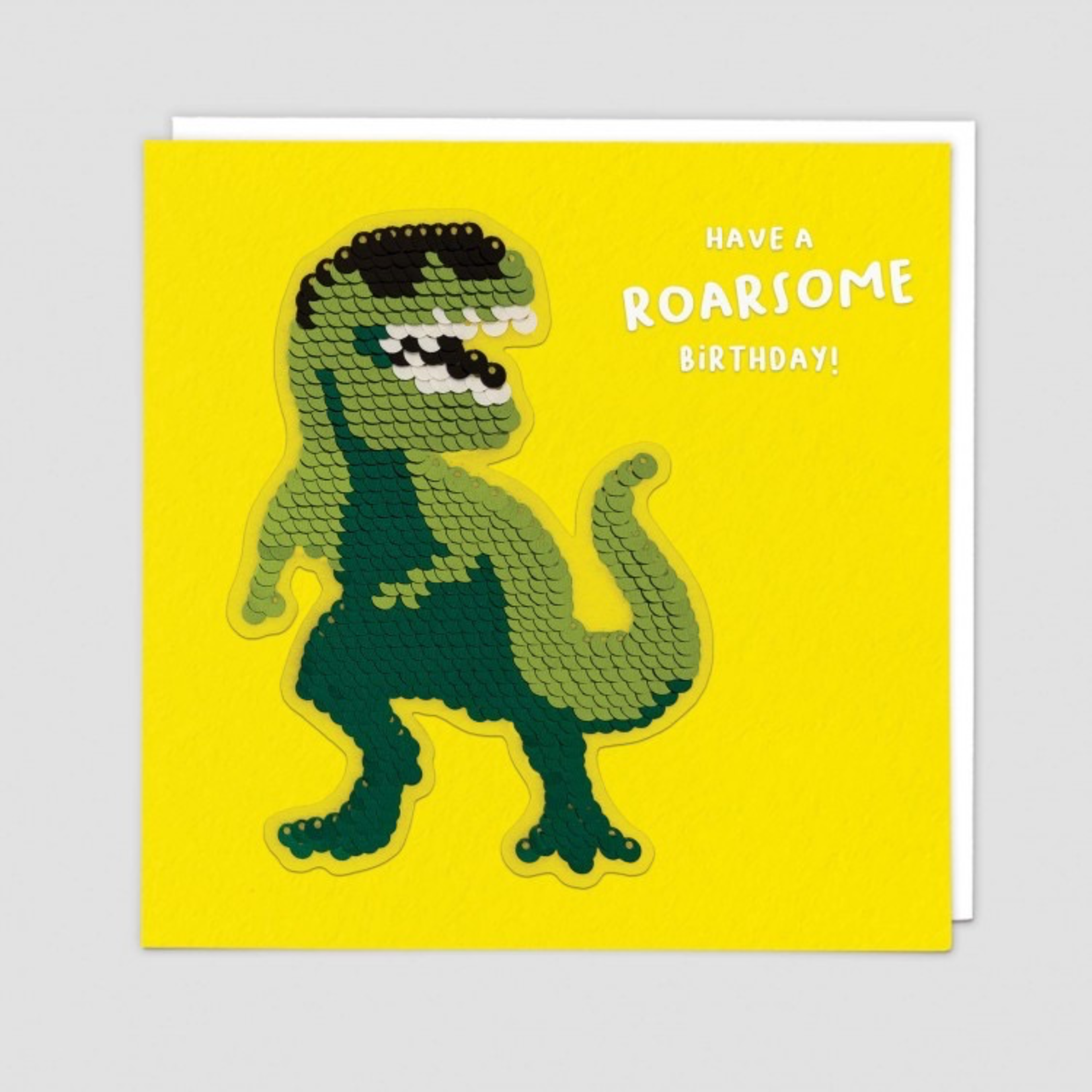 Redback Cards Dinosaur Birthday Reversible Sequin Card