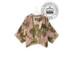 ONE HUNDRED STARS KEW Passion Flower Pink Kimono