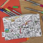 Eat Sleep Doodle The Doodle Dinosaur Pencilcase (Colour in pencilcase)