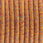 CCIT Per Metre - Round Electric Cable covered by Cotton fabric Indian Summer 3 core flex