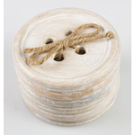 Sass and Belle Button Wood Coasters - Set of 6 pcs