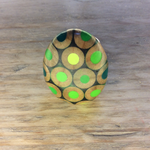 Zinc White ZW Pebble ring in greens