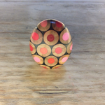 Zinc White ZW Pebble ring in pinks