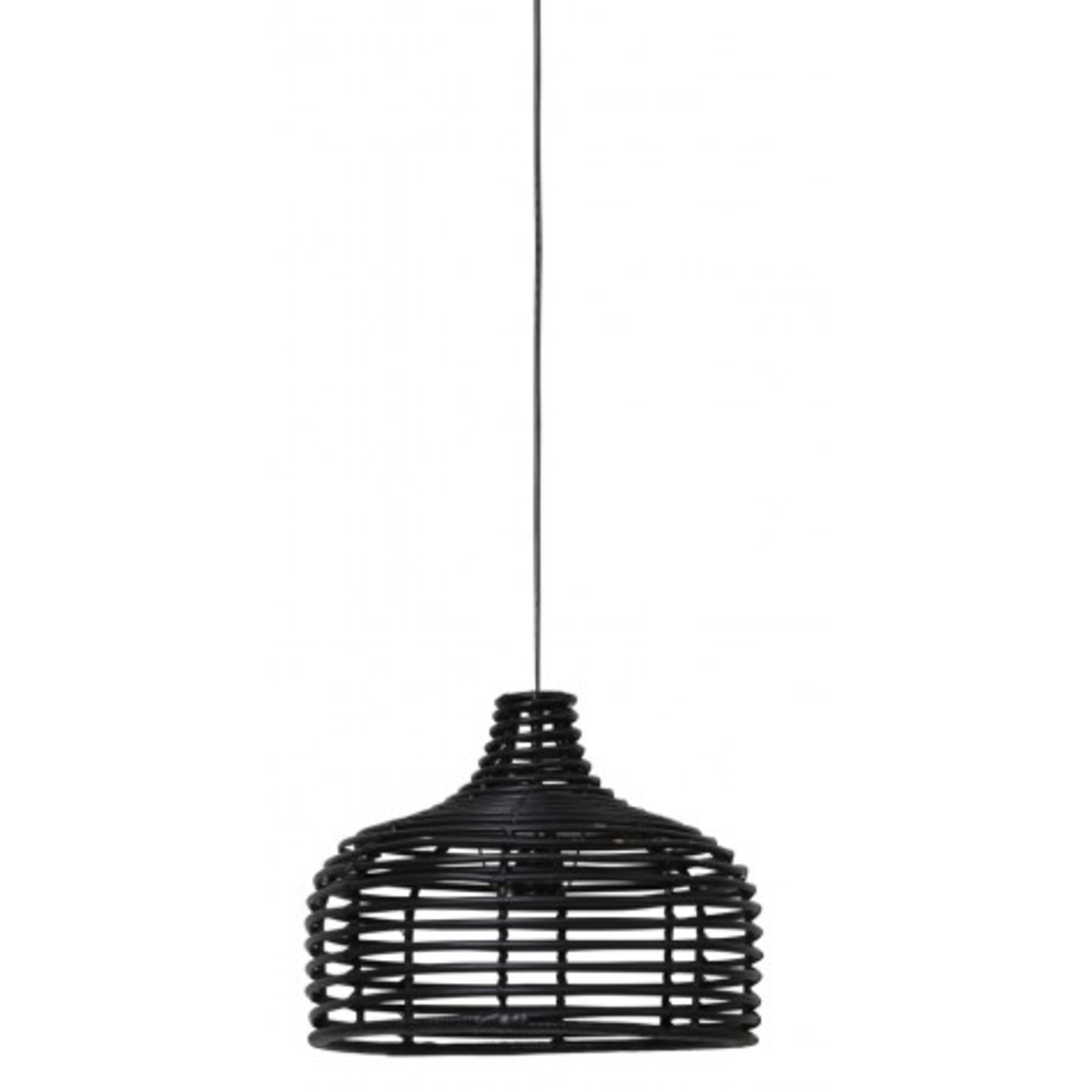 Light & Living ANINDA Rattan Black Wooden Light Lamp